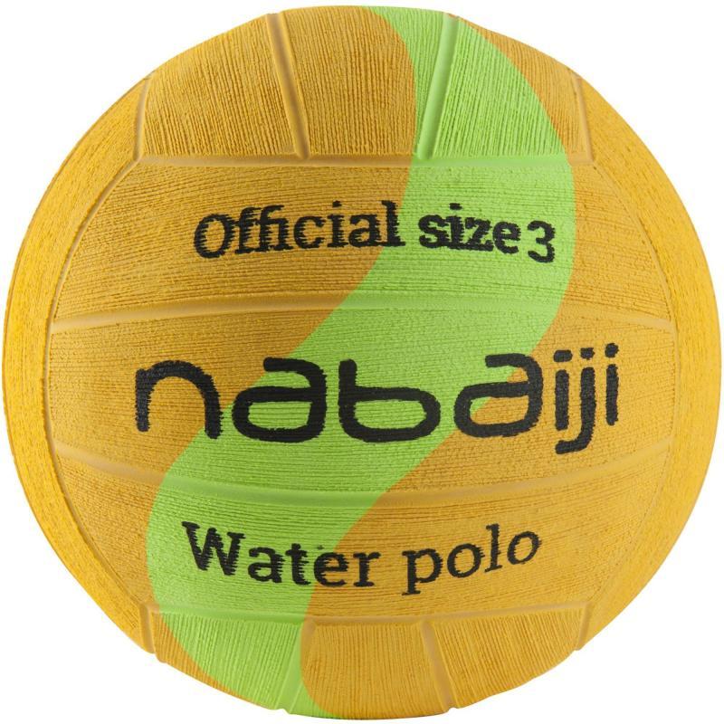 BALLON WATER POLO TAILLE 3 JAUNE VERT NABAIJI