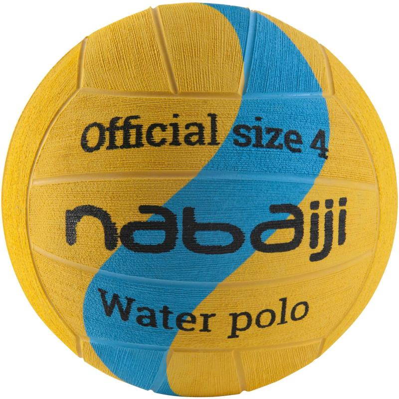 BALLON WATER POLO TAILLE 4 JAUNE BLEU NABAIJI